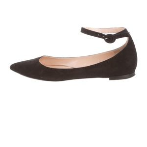 Gianvito Rossi pointed-for suede flats
